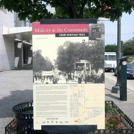 Photo of Shaw Heritage Trail Historical Sign in Mount Vernon Square, Washington D.C.